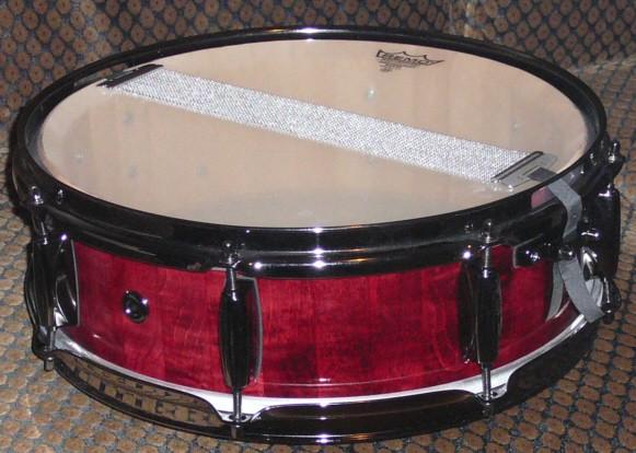 """14 """" Snare Drum / kan.Ahorn massiv / 2,3mm Hoops / Aus eigener Herstellung"""