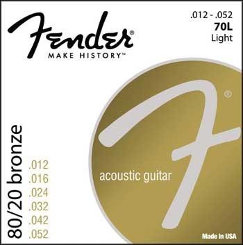 Fender 70 L, Westerngit.Saiten 012-052